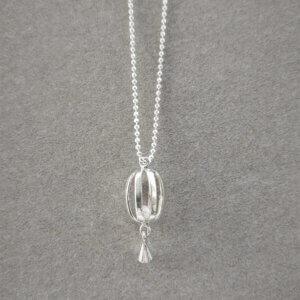zilveren collier met hanger met zoetwaterparel