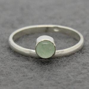 zilveren ring met nefriet